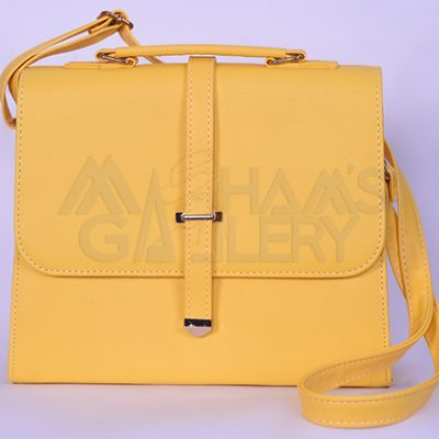 Leather Hand Bag with long Strap